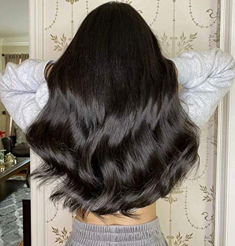 【5% Rabatt】Moresoo Topper Echthaar Extensions Echthaar Clip in Toupet für Frauen 14Zoll 13cm*13cm Mono Top Crown Echthaar Topper Haarteil Schwharz