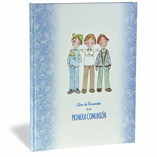 Busquets Libro Recuerdos Musical Primera Comunión Amigos Azul