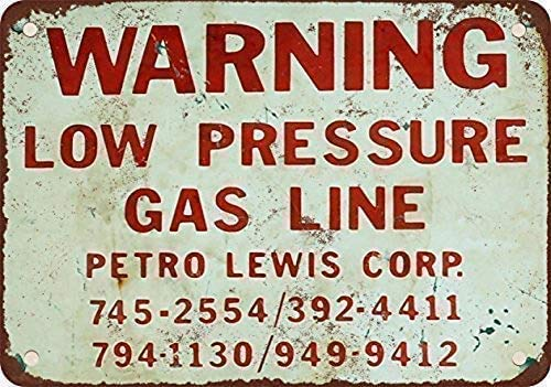 DKISEE Wall Decoration, Low Pressure Gas Line, Funny Iron Painting Vintage Metal...