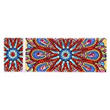 DHYED DIY Mandala Speziell geformte Diamantmalerei 2-Gitter-Diamantmalerei Schreibwarenbox Fragmentary Item Aufbewahrungsbox Angelgerätebox Aufbewahrungsbox