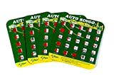 Green Auto Backseat Bingo Pack of 4 Unique Bingo Cards Great For Family Vactions Car Rides...