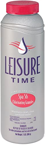 Leisure Time 22337A Spa 56 Chlorinating Granules for Hot Tubs, 2 lbs, gray
