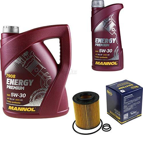 Filter Set Inspektionspaket 6 Liter MANNOL Motoröl Energy Premium 5W-30 API SN/CF SCT Germany Ölfilter
