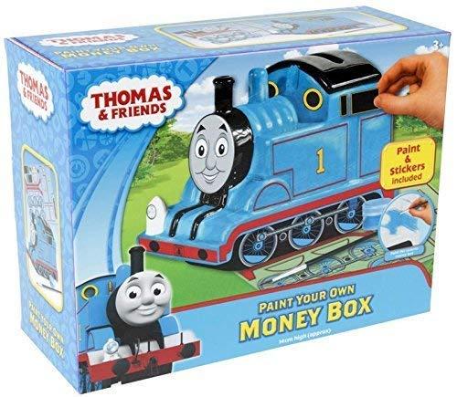 PINTURA tu propio Thomas el tanque motor tren de caja de dinero Hucha de regalo