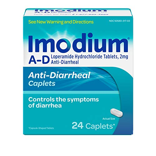 Imodium A-D Diarrhea Relief Caplets with Loperamide HCI, 24 ct.