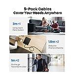 INIU-Cavo-USB-C-Type-C-5-Pezzi-1118183m-31A-QC-Cavo-USB-Type-C-in-Nylon-di-Ricarica-Rapida-Caricabatteria-Tipo-C-di-Sincronizzazione-Dati-Compatibile-con-Samsung-S21-Note-Xiaomi-Huawei-ECC