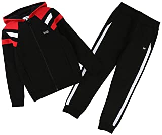 black and red hugo boss tracksuit