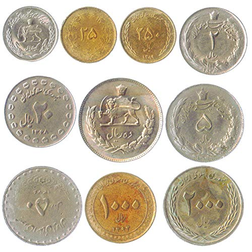 10 Old Coins from Islamic Republic …