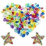 Tesoro Gemas 250 Piezas Diamantes Piedras Acrílicas Piedras Preciosas Cristal Acrílico Decoración Diamantes Dispersos Gemas Diamantes Acrílicos para Jarrones Fiestas Decoraciones Boda Artesanías