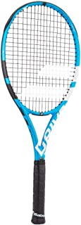 Babolat Pure Drive Team Black/Blue/White Tennis Racquet Strung with Custom Racket String Colors (Best Lightweight All-Court Racket)
