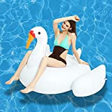 Kurala Inflatable Swan Pool Float Ride On, 55 x 44 x 38 inches, Large Lake Floats Summer Swimming Pool Beach Toys, Pool Floaties for Adults Kids