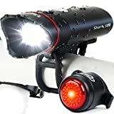 Cycle Torch Shark 500 USB Rechargeable Bike Light, Headlight & Tail Light Set, Fits All Bicycles, Hybrid, Road, MTB, with Quick Release