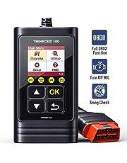 thinkcar OBD100 OBD2-Diagnosegerät für alle Fahrzeuge, Universal Deutsch-Fehlercode-Auslesegerät, ALLE 10 OBDII Diagnose Modus inkl, Diesel & Benzin Motor geeignet