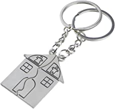 2pcs Couple Keychains Love Family House Trinket for Lovers Alloy Jewelry