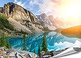 PMP-4life Wand-Bild Bergsee in Kanada | 140x100cm |