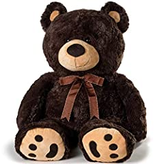 ❤️ SUPERIOR QUALITY This adorable, loveable JOON Huge Teddy Bear Dark Brown With Ribbon is made with premium craftsmanship, the finest 100% polyester materials and just the right amount of stuffing to provide years of huggable squeezable love! JOON H...