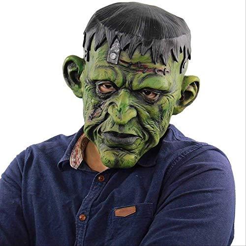 Ruox MascaraEspeluznante Mal Payaso máscara Doble Cara látex Goma máscara Halloween máscara máscara Payaso con Pelo para Adultos máscaras Frank