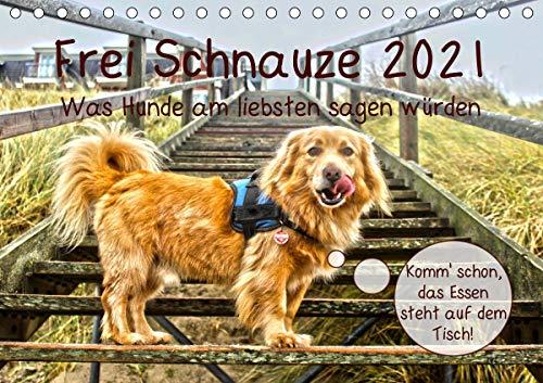 Frei Schnauze 2021. Was Hunde am liebsten sagen würden (Tischkalender 2021 DIN A5 quer)