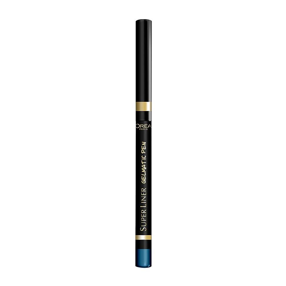 不利冷蔵する繁栄ロレアル パリ スーパーライナー ジェルマティックペン 06 ターボターコイズ