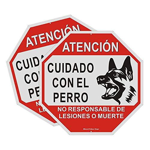 2pcs Señal de Cuidado con EL Perro, 30 * 30cm