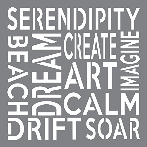 Deco Art Plastic Andy Skinner Mixed Media Stencil 8-Inch x 8-Inch-Serendipity