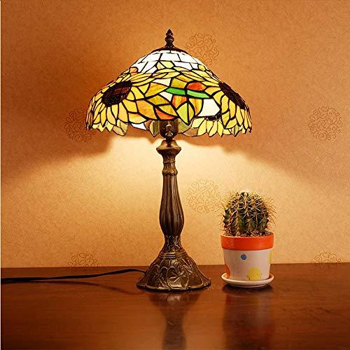 De enige goede kwaliteit Decoratie Retro Tiffany Stijl Tafellamp Glas Woonkamer Bar Slaapkamer Nachtlampje Studie Landelijke Decoratie Nachtlamp Tafellamp 30 * 50cm