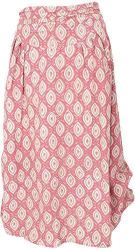 GURU SHOP Falda maxi convertible, cómoda falda de verano para mujer, de algodón, falda/larga, ropa alternativa Rosa. XL