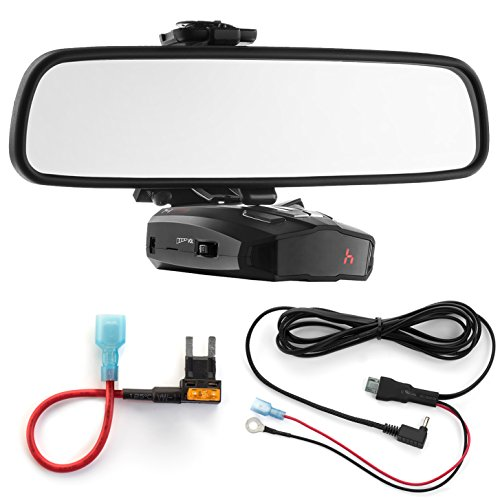 New Radar Mount Mirror Mount Bracket + Direct Wire Power Cord + Mini Fuse Tap for Cobra (3001403)