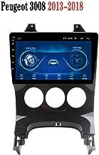 9 pulgadas en el tablero de coches Stereo Radio Reproductor MP5 Android 8.1 para Peugeot 3008 (2013-2018), GPS de la pantalla táctil 2.5D, Wifi, BT, Espejo Enlace, Sintonizador de radio (1 + 16G)