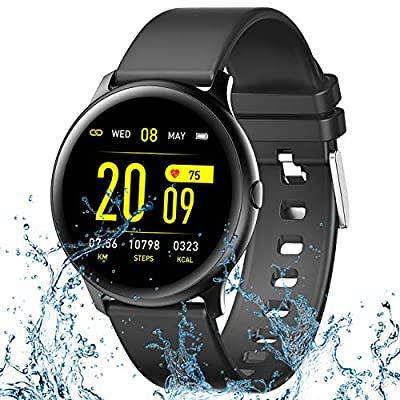 TURNMEON Smart Watch for Men Women, Full Touch Color Screen Waterproof HR Fitness Tracker with Heart Rate Blood Pressure Blood Oxygen Monitor, Activity Tracker for Android iOS Phones