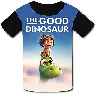 QIANBAIHUI Kids Youth Dinosaur and Boy 3D Printed Crew Neck T-Shirt Tees