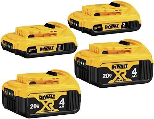 DEWALT 20V MAX Battery Lithium Ion 4 Ah 2 Ah 4 Pack DCB3244 product image