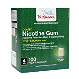 Walgreens Coated Nicotine Polacrilex Gum 4 mg, Cool Mint, 100 ea