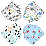 Flyish Baby Underwear Potty Training Pants, Cotton Toddler Potty Training Pants 4 Packs,18-36