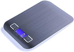 ميزان طعام رقمي متعدد الوظائف للمطبخ من جاكالي، شاشة ال سي دي كبيرة مع اضاءة خلفية وزر تصفير، 11 باوند/5 كغم، وزن رقمي بال...