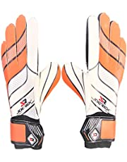 Joerex Youth&Adult Goalie Goalkeeper Gloves - By Hirmoz, Strong Grip for The Toughest Saves, with Finger Spines to Give Splendid Protection to Prevent Injuries, Size 9 - Orange