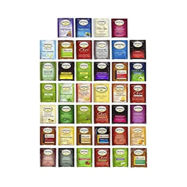 Twinings Tea Bags Sampler Assortment Variety Pack - 40 ct with By The Cup Honey Stix