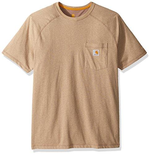 Carhartt Men's Big Force Cotton Delmont Short Sleeve T-Shirt (Regular and Big & Tall Sizes), Desert Heather, 3X-Large Tall