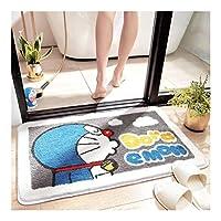 屋内と屋外ドアマット浴室吸収マット浴室滑り止めマットトイレマットフットドアスクレイピングマットベッドルームカーペット漫画 (色 : D, サイズ : 50*80cm)