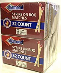 32 count (each box) 10 boxes (320 matches total) Strong sturdy splint Burns clean with minimal smoke Ideal for lighting candles, stoves, grills, fireplaces, campfires and more