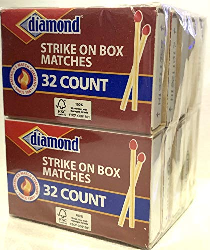 GreenLight Diamond Strike on Box Matches, 32 Count (Pack of 10)