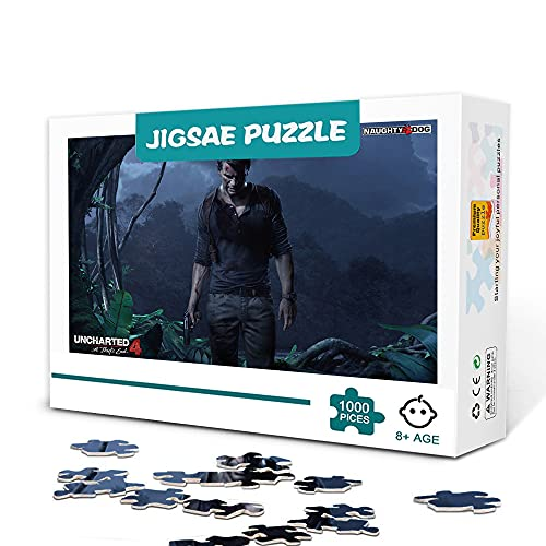 CHDBB 500 Jigsaw Puzzle Game Classic Game Uncharted 4: A Thi