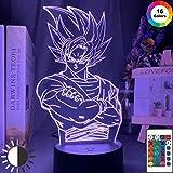 Dragon Ball Goku Figur Coole Anime Gadget Nachtlicht 3D LED Tischlampe Kinder Geburtstagsgeschenk...