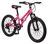 Pacific Cavern Girls Mountain Bike, 20-Inch Wheels, 7-Speed Twist Shifters, 12-Inch Steel Frame, Pink