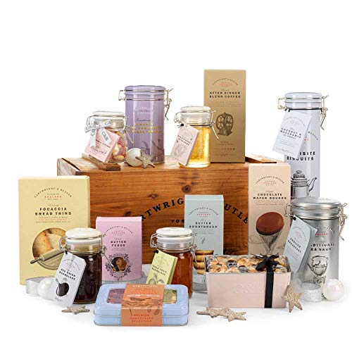 Photo of Cartwright & Butler Swaledale Hamper | Contains Confectionary, Preserves, Marmalades, Tea, Biscuits, Coffee and More | Presented in a Large Wooden Crate | Perfect Gift – Large Luxury Hamper
