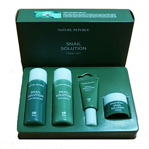 Nature Republic Snail Solution Trial Kit (4 items) Basic Skin Care Travel Kit2 SET