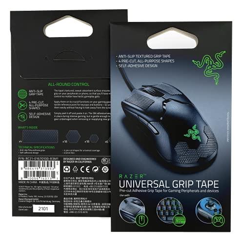 Razer Universal Griptape für Gaming-Peripheriegeräte und Geräte: Anti-Rutsch Griptape - 4 vorgeschnittene, Allzweckformen - selbstklebendes Design