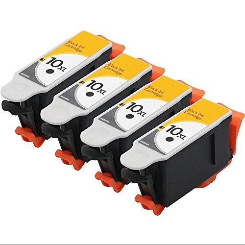 RIGHTINK 4 Black Compatible Ink Cartridges for Kodak 10 XL Combo Suitable for Kodak kodak Hero 6.1 Hero 7.1 Hero 9.1