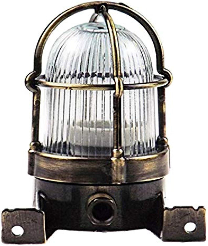 Chandelierstega Brass Bulkhead Outdoor Waterproof Sconce Lamp Light Nautical Marine Boat Wall Lamp Industrial Vintage Light.