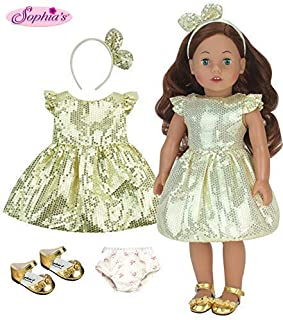 Sophia's 18 Inch Doll Carly, Made 18 Inch Auburn Doll, Jointed Arms/Legs & Soft Body, Brand Doll
